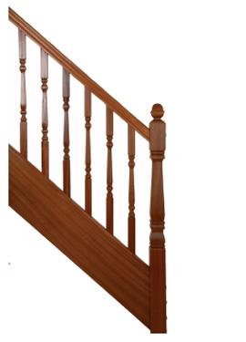Sapele staircase