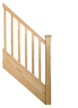 Southern Yellow Pine staircase