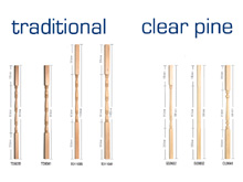 Traditional and Clear Pine